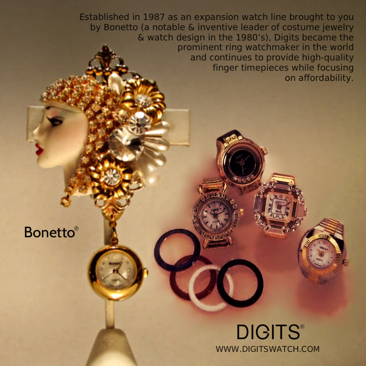 Antique Bonetto Pin u0026 Digits Watches Remember Bonetto costume jewelry ... & Archive Jewelry by Bonetto | Time to Style Watch